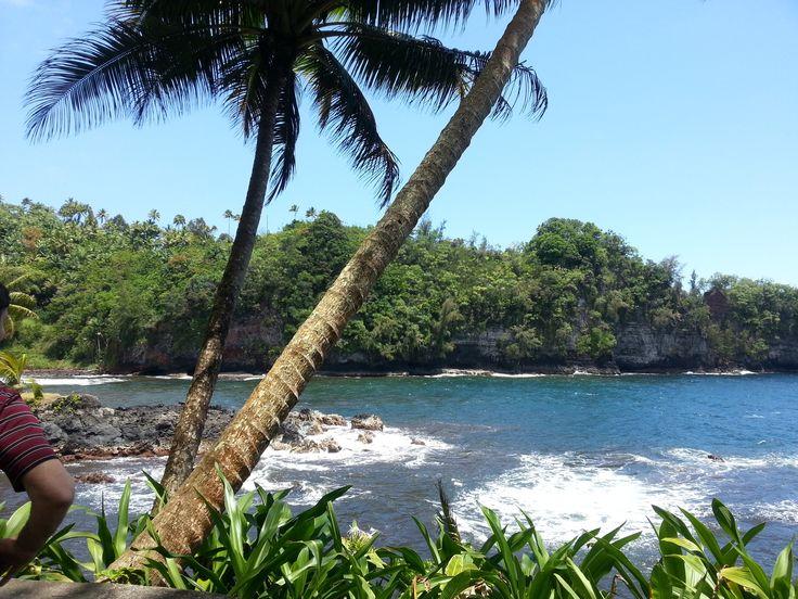 """Hawaii képeslapnak látszik, de én vagyok a telefon másik oldalán!  Egyszerűen gyönyörű! Ja, és a Misi könyöke a bal oldalon """"belelóg"""" a képbe. :)"""
