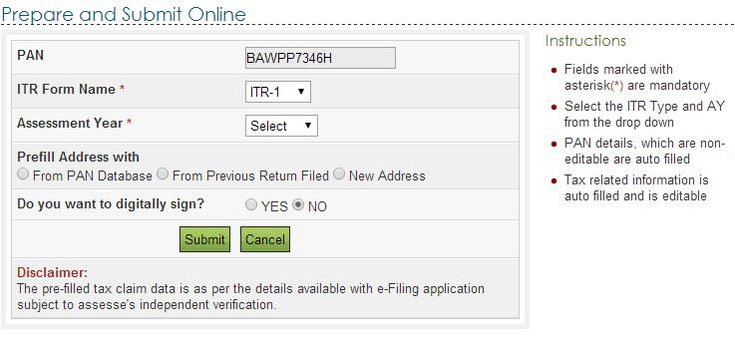 Steps of Online E-Filing Income Tax Returns from Home