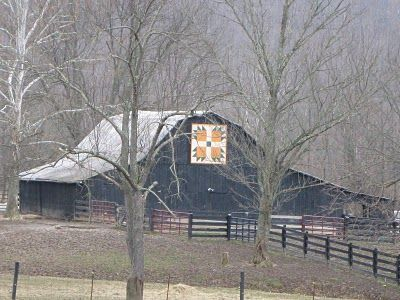 Kentucky Black barn with quilt square