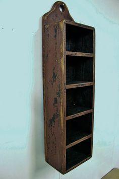 Primitive spice rack, Jelly cupboard, Primitive wall shelf, French country spice rack, Shabby chic wall shelf,Apothecary shelf,shadow box by LynxCreekDesigns on Etsy https://www.etsy.com/listing/168437229/primitive-spice-rack-jelly-cupboard