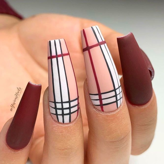 Burgundy Matte Nails To Try This Season | NailDesignsJournal in 2020 | Burgundy matte nails, Brown nails design, Matte nails design