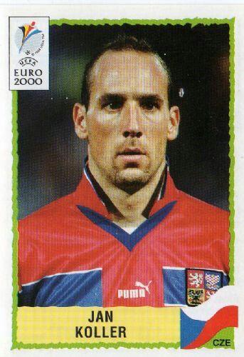 Jan Koller of Czech Republic. 2000 European Championship card.