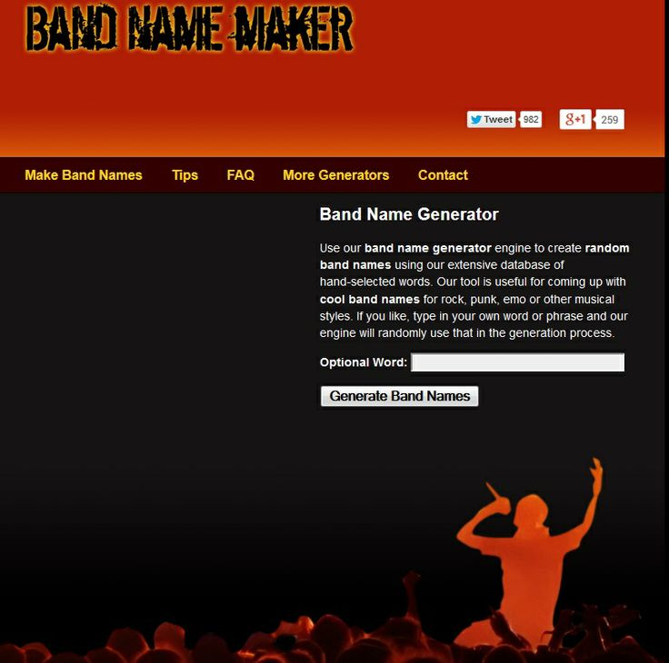 The 25+ best Band name generator ideas on Pinterest Lol generator Random lyrics generator and