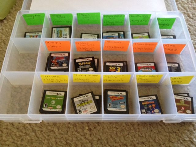 DIY Easy Nintendo DS storage for the kids & You