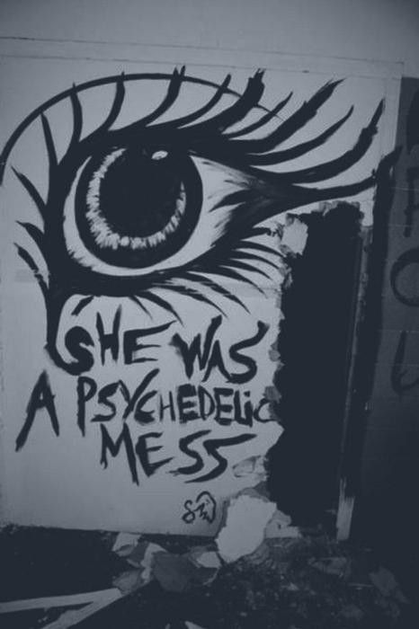 She was a psychedelic mess.