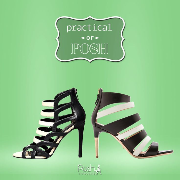 Black and White Strappy Heels by Jerome Rousseau and Enzo Angiolini | {Posh In Progress}