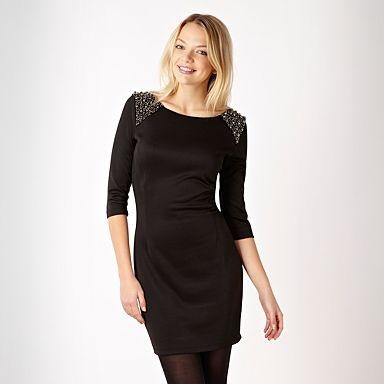 Black beaded shoulder dress - Evening & party dresses - Dresses - Women - Red Herring for understated bling