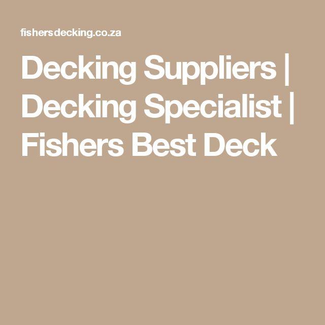 Decking Suppliers | Decking Specialist | Fishers Best Deck