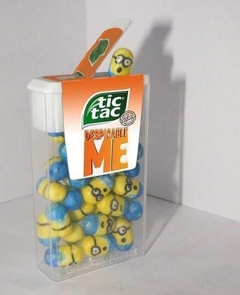 Despicable Me Tic Tac Minions. I sooo want to buy some of these!