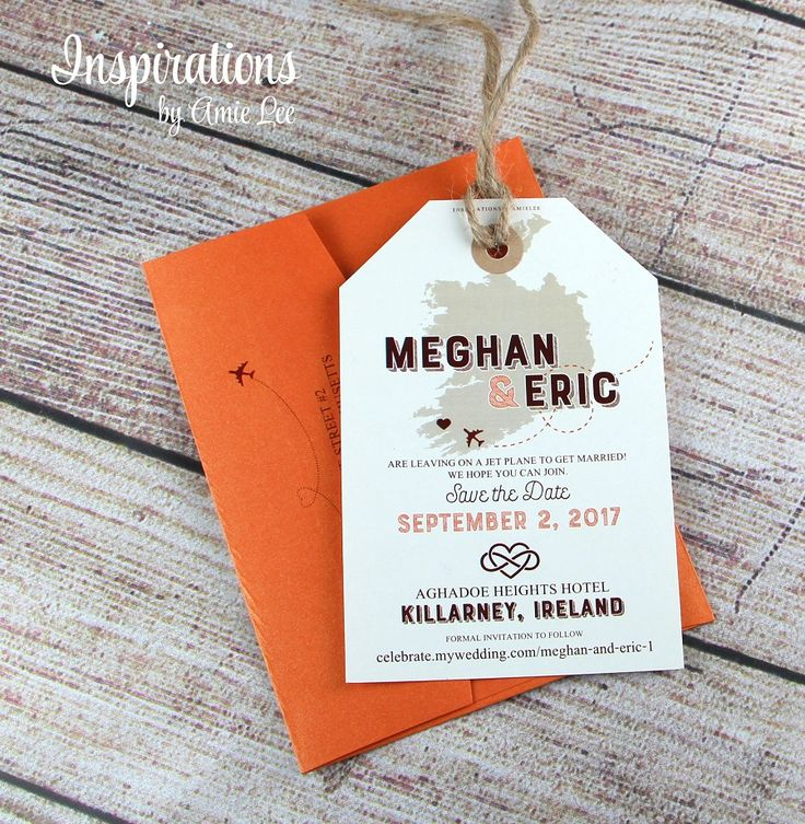 Save the Date Luggage Tags luggage tag