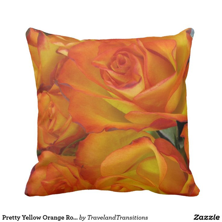 Pretty Yellow Orange Roses