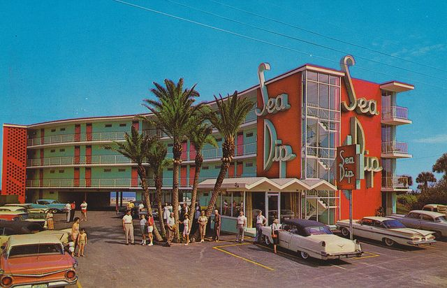 Sea Dip Motel and Apartments - Daytona Beach, Florida by The Pie Shops Collection, via Flickr