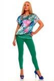 Shirt Crescent Sky Flower 2196 green-pink 4 pieces