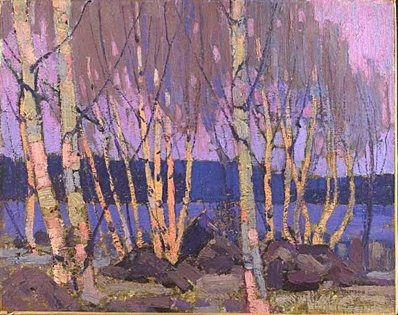 Tom Thomson: Evening, Canoe Lake, 1915.