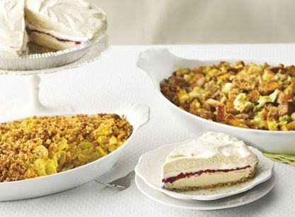 Homestyle Sides - Sausage, Artichoke, and Parmesan Stuffing, Summer Squash Casserole and Peanut Butter and Jelly Pie Recipe from #PublixAprons