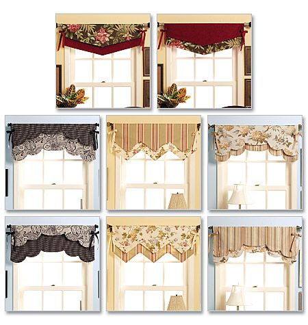 fast and easy reversible valances butterick waverly