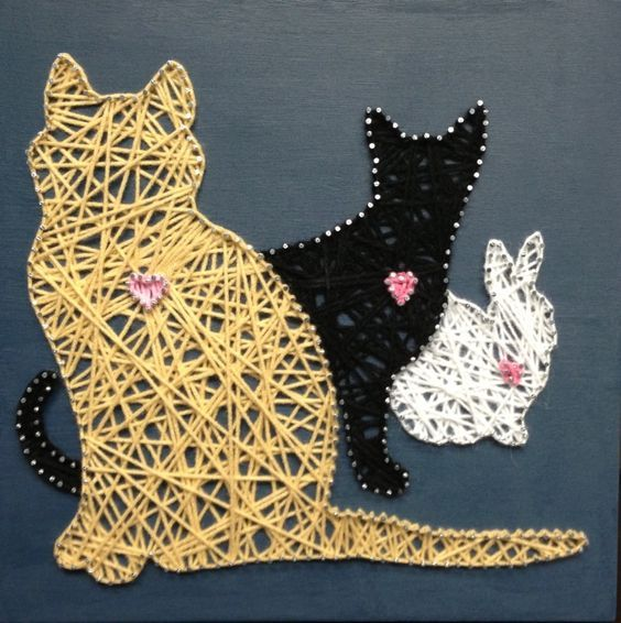 17 Best How To Make Diy String Art Animals Images On