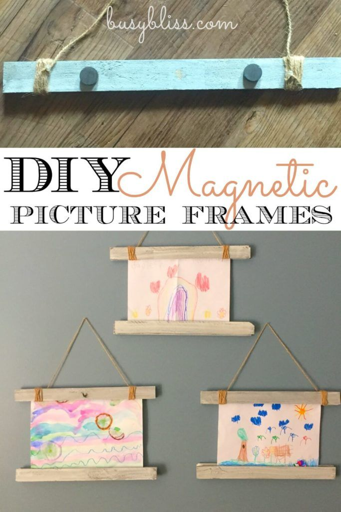 These magnetic frames are so cute to hang up all my kids handmade art! Love how I can switch them out so easily and they can fit any size picture!