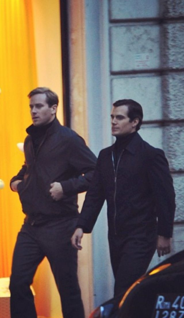 Henry Cavill and Armie Hammer.