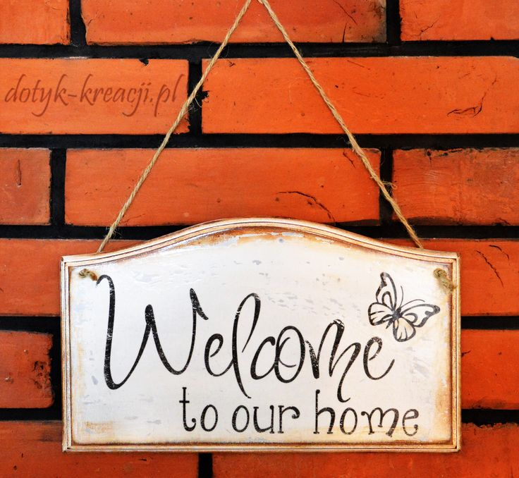 Tabliczka Welcome