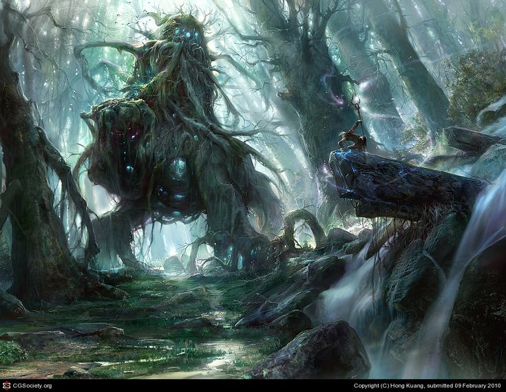 God of the forest by Hong Kuang   2D   CGSociety