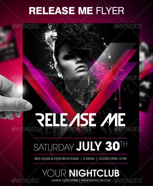 30 vibrant colorful party flyer templates design flyers