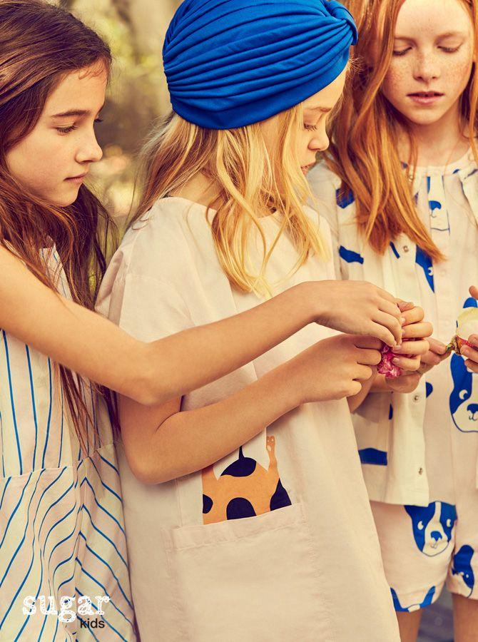 Aroa, Rose & Elia from Sugar Kids for La Petite Magazine by Elena Bofill.
