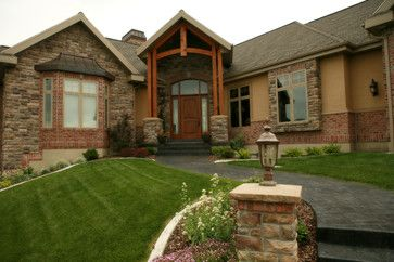 Mix brick and stone curb appeal pinterest for Mixing brick and stone