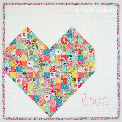I-Heart-You Mini Quilt | We 'heart' this adorable mini quilt!
