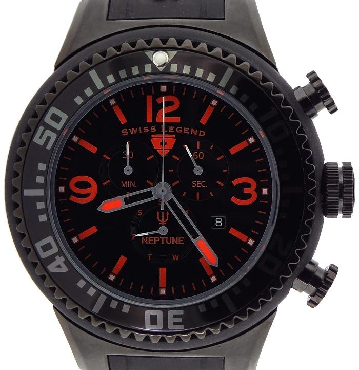 Swiss Legend Neptune Chronograph Rubberized Watch ...