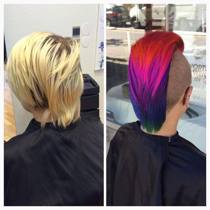 Här snackar vi förändring!  Linns kund ville ha ett regnbågshår.. Eran önskan är våran lag⬆️ #michaelofrisorerna #hairpassion #stockholm #ombre #ombrehår #ombrehair #balayage #olaplex #olaplexsweden #hair #hairstyle #hairstylist #hår #haircolour #hairfashion #Longhair #hairdresser #blondehair #blonde #brownhair #curlyhair