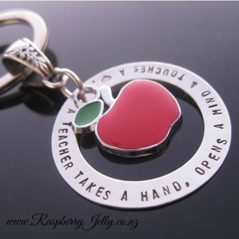 We leave our children with teachers for a good portion every weekday. They teach, inspire and change lives. Say thanks by way of a Teachers Circle Keyring.