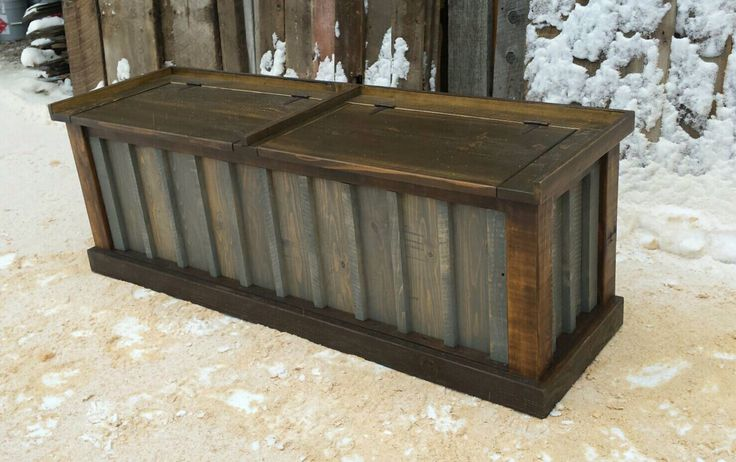 Rustic Entry Storage Bench by EchoPeakDesign on Etsy https://www.etsy.com/listing/263236657/rustic-entry-storage-bench