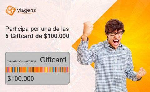 Participa por una de las 5 Giftcard de $100.000