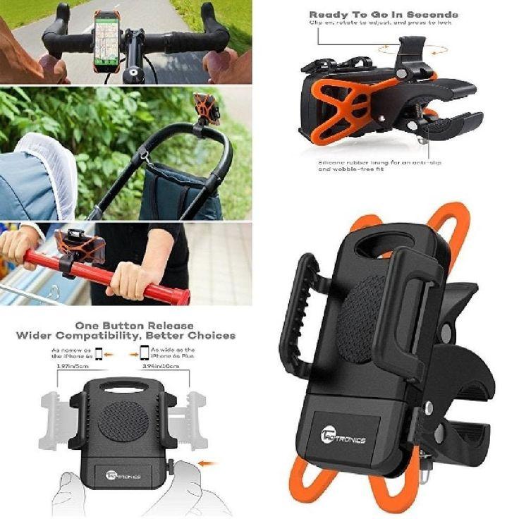 TaoTronics Universal Bicycle Phone Mount Holder Cradle Clamp For Smartphone NEW #TaoTronics