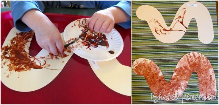 worm painting in preschool 6