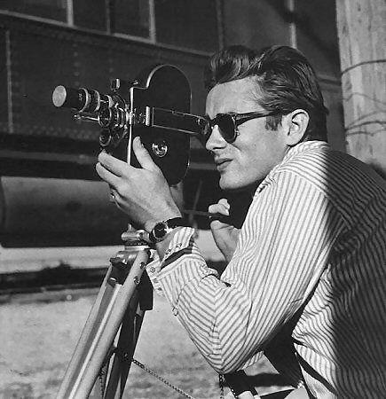 James Dean on a cinema camera.