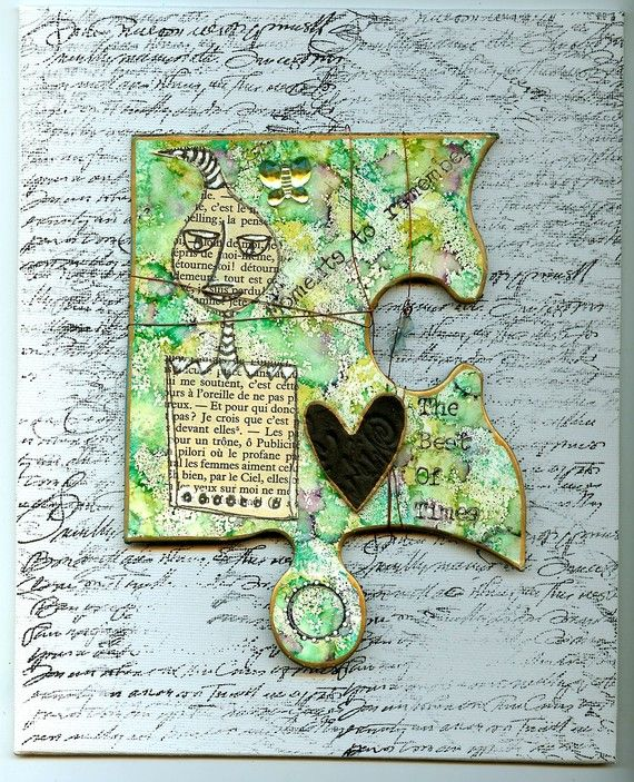 1000 images about altered puzzle pieces on pinterest for Decoration or embellishment crossword