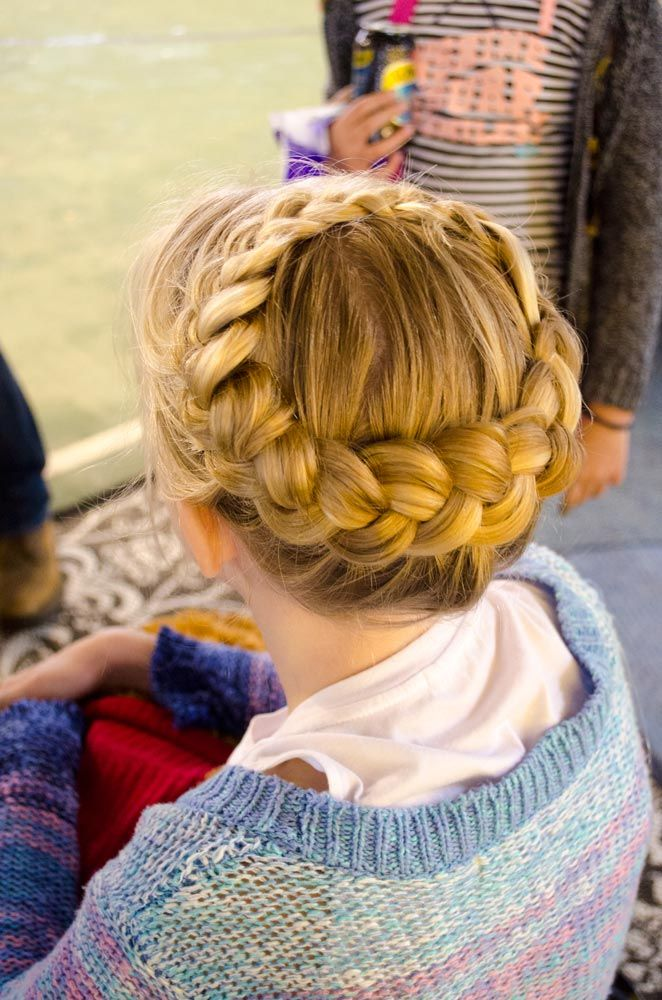 Dutch Halo Braid- Formal or wedding hair style