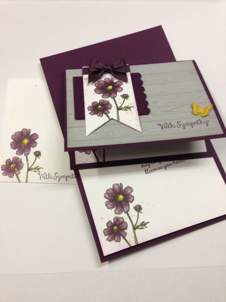 [Stampin' Up! Bloom with hope] stamp the image on the inside of the card AND also on the envelope.