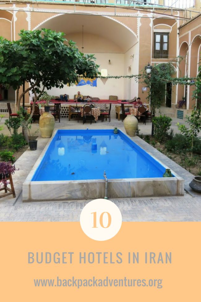 Iran - A guide to the top 10 budget hotels in Iran and other places to stay on a budget in Tehran, Kashan, Esfahan, Shiraz & Yazd