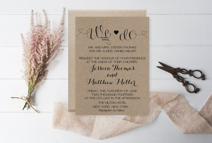 11 best wedding invitations images on pinterest wedding invitation rustic kraft we do wedding invitation template kraft wedo wedding invitation stopboris Choice Image