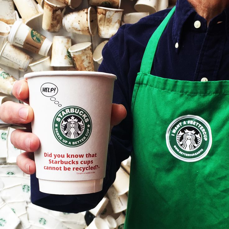 Each minute the equivalent of a garbage truck full of plastic ends up in the ocean, so why do 4 billion plastic-lined Starbucks paper cups get thrown ...