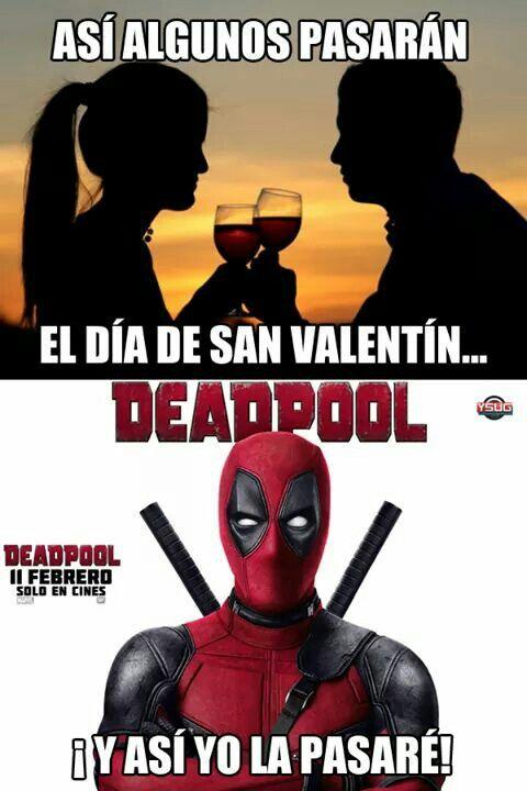 San Valentín=Deadpool