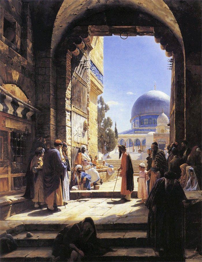 At the Entrance to the Al Aqsa Mosque, Jerusalem