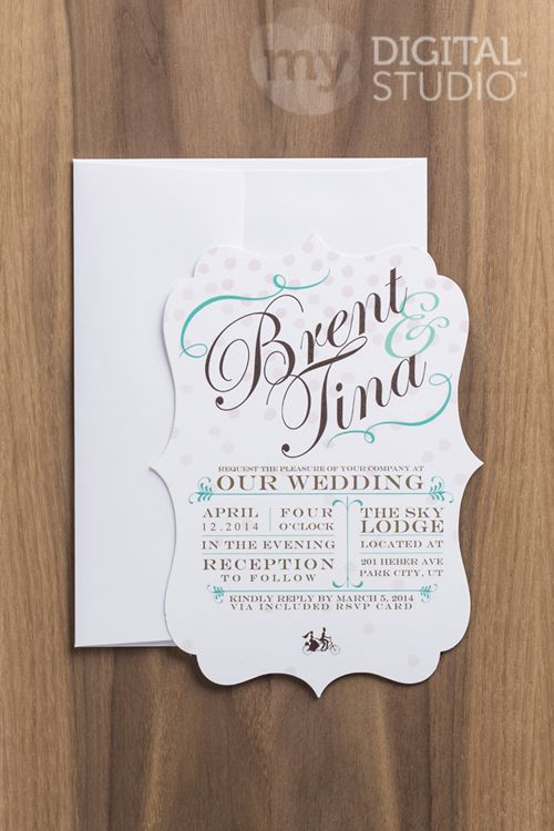 Make Your Own WEDDING INVITES Using Stampinu0027UP! Have Them Printed On These  Cool Shaped Cards.