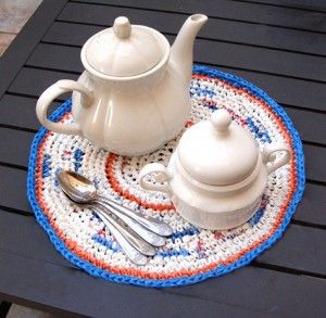 Crocheting Mats From Plastic Bags : crochet plastic bag place mat Crochet Patterns that I collect, but ...