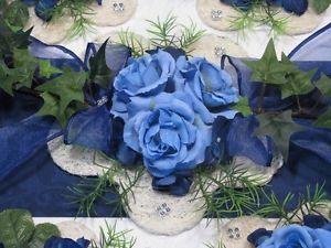 Ehrenplatz Tischgesteck blau Tischdeko Taufe Hochzeit   eBay