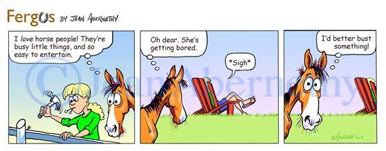 Horse comic strips