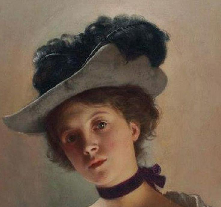 Jeune belle Ladislas Wladislaw von Czachorski (Polish, 1850-1911) (detail).